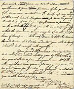 [Benjamin West letter to Charles Willson Peale page 3]