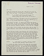 Barnett Newman letter to Clement Greenberg