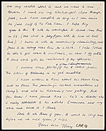 [Anthony Caro, London, England letter to unidentified recipient verso 1]