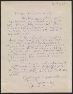 A letter from Robert Irwin to Clement Greenberg