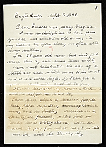Grandma Moses (Anna Mary Robertson Moses) letter to Frances and Mary Virginia Greer