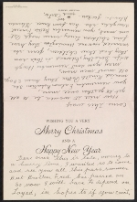 Grandma Moses Christmas card to Frances Greer