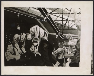 [A sketch for William Gropper's Automobile Industry mural]