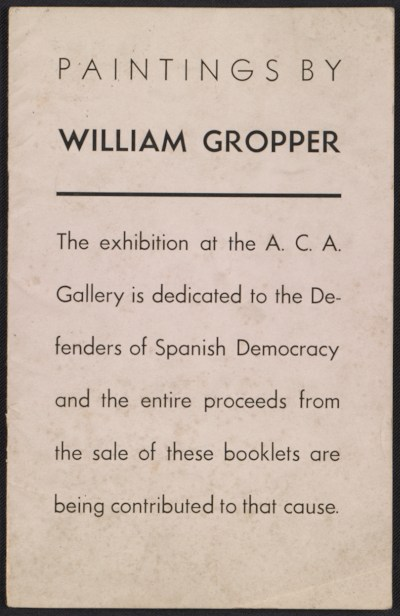 [Paintings by William Gropper]