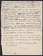 [Olin Dows letter to William Gropper and draft response from Gropper verso 5]