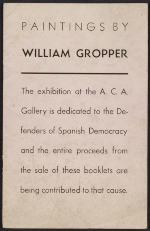 [Paintings by William Gropper cover ]