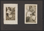 [Lena Gurr photograph album pages page 1]