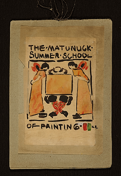 Matunuck Summer School of Painting sketchbook