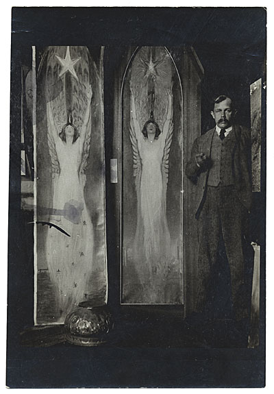 Philip Leslie Hale with paintings