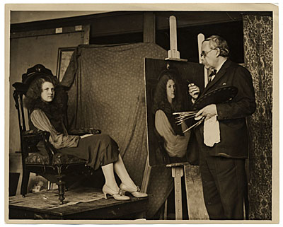 [Philip Leslie Hale with model]