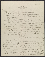 Charles Roswell Bacon letter to Philip Leslie Hale