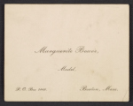Marguerite Bouvè business card