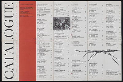 Art Institute of Chicago catalog for Artists of Chicago and vicinity exhibition