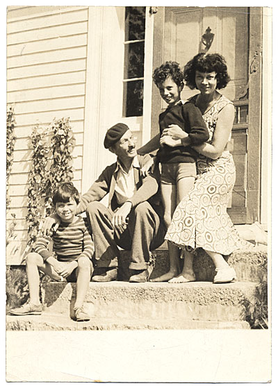 [Kimon Nicolaides with Ann, Gifford, and Philip in New Hampshire]