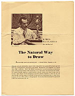 [Advertisement for the book,  The Natural Way to Draw page 1]