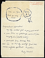 Andy Warhol letter to Russell Lynes