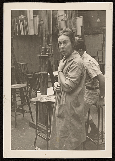 [Agnes Hart assisting students at the Art Students League]