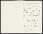 [Mrs. J. Q. Adams letter to Charles Henry Hart inside 3]