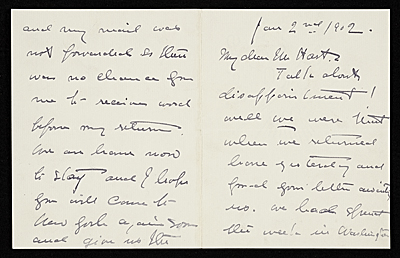 Howard Chandler Christy, New York, N.Y. letter to Charles Henry Hart