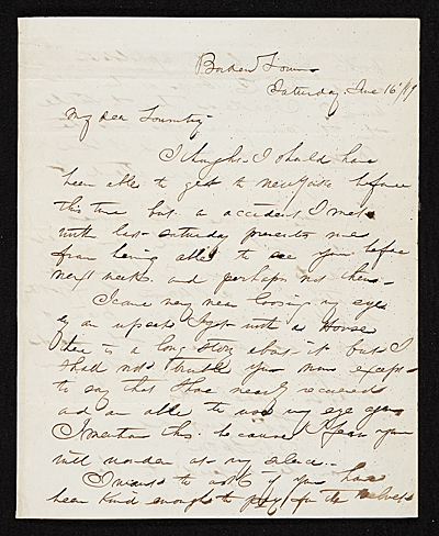 [Thomas Crawford, Bordentown, N.J. letter to Robert E. Launitz, New York, N.Y.]