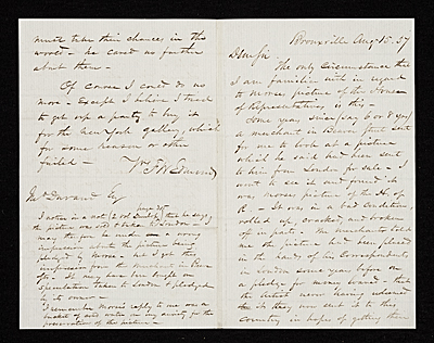 Francis William Edmonds, Bronxville, N.Y. letter to unidentified recipient