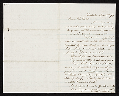 [Charles Loring Elliott, Hoboken, N.J. letter to unidentified recipient]