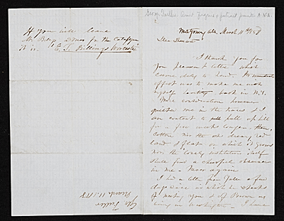[George Fuller, Montgomery, Ala. letter to Asher Brown Durand]