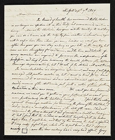 Charles Cromwell Ingham, New York, N.Y. letter to Asher Brown Durand