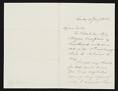 [Benjamin Moran, London, England letter to unidentified recipient, New York, N.Y.]