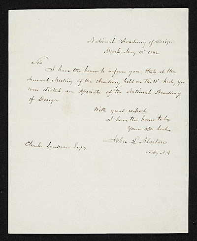 [John Ludlow Morton, New York, N.Y. letter to unidentified recipient]
