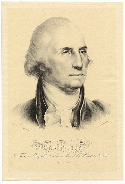 Washington, from the original portrait painted by Rembrandt Peale
