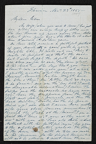 [Unidentified sender, Florence, Italy letter to James Gibson, Cincinnati, O.H.]