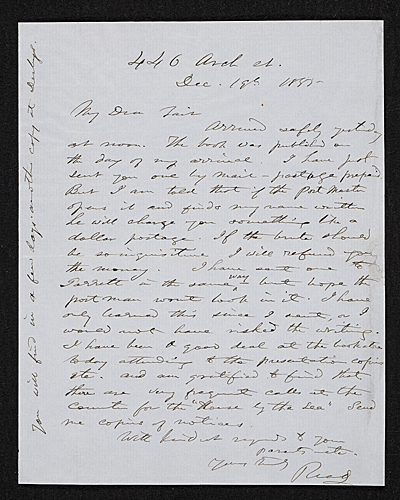 [Thomas Buchanan Read letter to unidentified recipient]