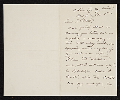 [Walter Shirlaw, New York, N.Y. letter to Charles Henry Hart, New York, N.Y.]
