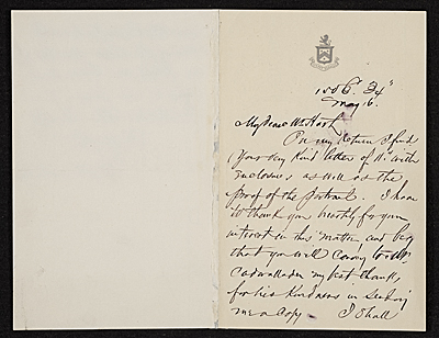 [Francis Hopkinson Smith, New York, N.Y. letter to Charles Henry Hart]