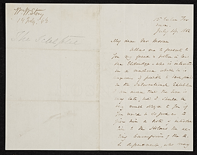 [William Wetmore Story letter to Thomas Moran]