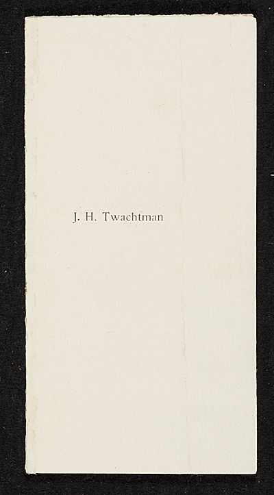 John H. Twachtman list of works.