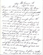Thomas Eakins letter to Charles Henry Hart