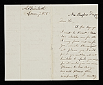 Albert Bierstadt, New Bedford, Mass. letter to John Durand, New York, N.Y.