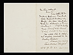 Edwin Howland Blashfield letter to Charles Henry Hart, New York, N.Y.