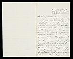 John Bunyon Bristol, New York, N.Y. letter to Asher Brown Durand, New York, N.Y.