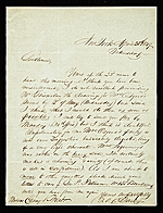 Felix Octavius Carr Darley, New York, N.Y. letter to unidentified recipient, Philadelphia, Pa.
