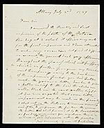 Anson Dickinson, Albany, N.Y. letter to Asher Brown Durand, New York, N.Y.