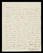 Thomas Doughty, Boston, Mass. letter to Asher Brown Durand, New York, N.Y.