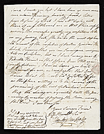 [John Singleton Copley letter to unidentified recipient, Florence, Italy 2]