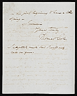 [Thomas Cole, Catskill, N.Y. letter to Asher Brown Durand, New York, N.Y. 1]