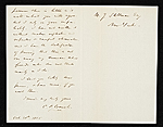 [Christopher Pearse Cranch, Paris, France letter to James Stillman, New York, N.Y. 1]