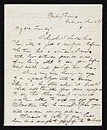 Thomas Crawford, Bordentown, N.J. letter to Robert E. Launitz, New York, N.Y.