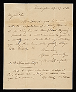 William Danforth, Kensington, England letter to Asher Brown Durand, New York, N.Y.
