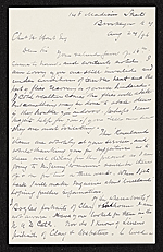 John M. Falconer, Brooklyn, N.Y. letter to Charles Henry Hart, New York, N.Y.